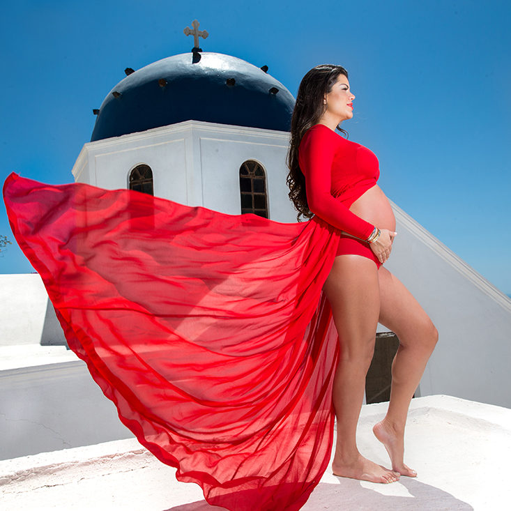 santorini maternity photography